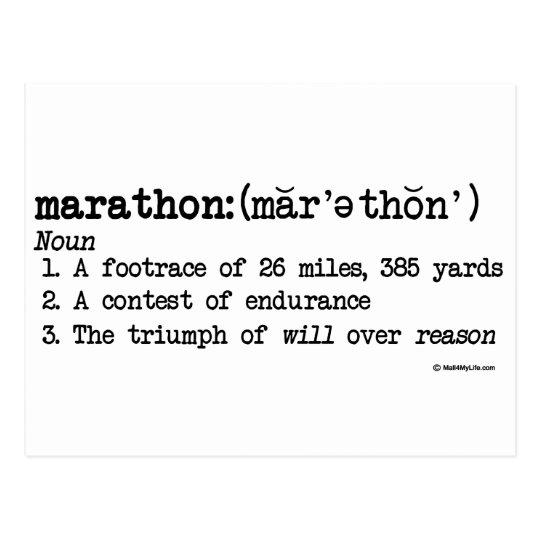 Marathon Defnition Postcard