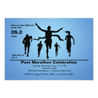 Marathon Finish Invitation