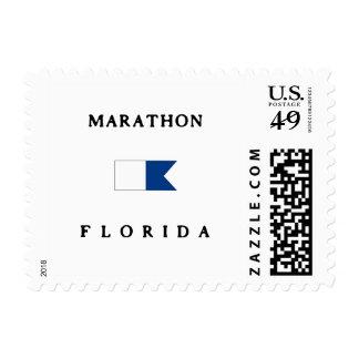Marathon Florida Alpha Dive Flag Postage