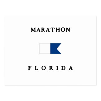 Marathon Florida Alpha Dive Flag Postcard