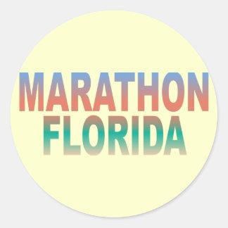 Marathon Florida Keys Round Sticker