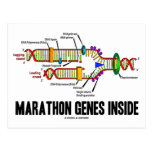 Marathon Genes Inside (DNA Replication) Post Card
