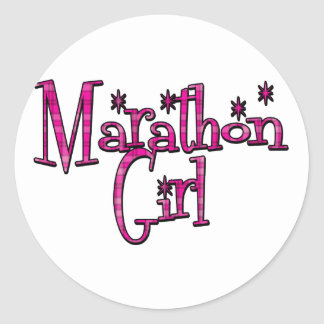 Marathon Girl Classic Round Sticker