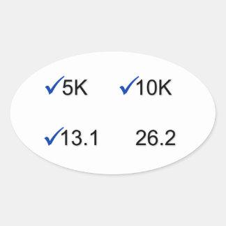Marathon Goals Oval Sticker