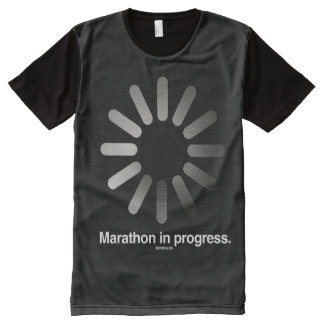 Marathon in progress -   Running Fitness -.png All-Over Print T-shirt