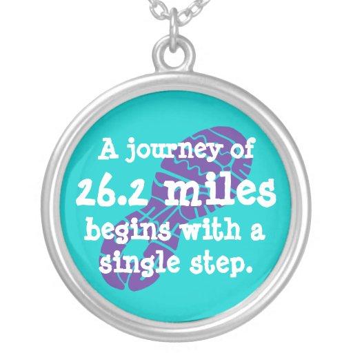 Marathon Journey Round Pendant Necklace