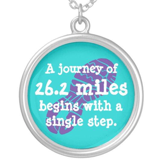 Marathon Journey Silver Plated Necklace