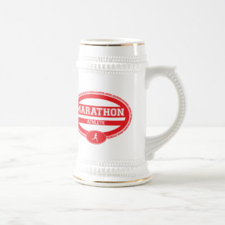 Marathon Oval for Athletes and Spectators Beer Stein