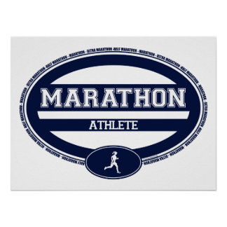 Marathon Oval for Athletes and Spectators Posters