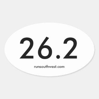 Marathon Oval Sticker, Glossy Oval Sticker