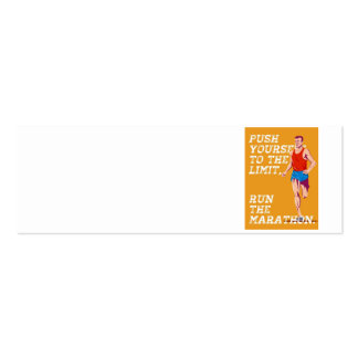 Marathon Push to the Limit Poster Business Cards