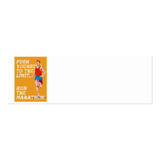 Marathon Push to the Limit Poster Business Card Template