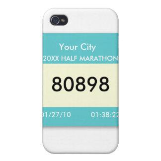 Marathon Race Bib on a  iPhone 4 Cover
