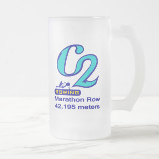 Marathon Row Frosted Glass Beer Mug