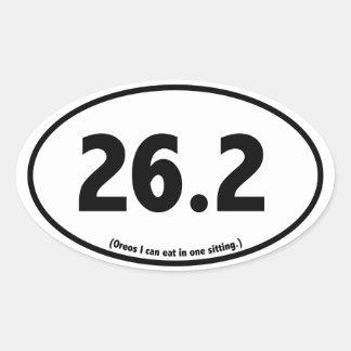 Marathon Runner Humor Sarcastic Parody Sticker