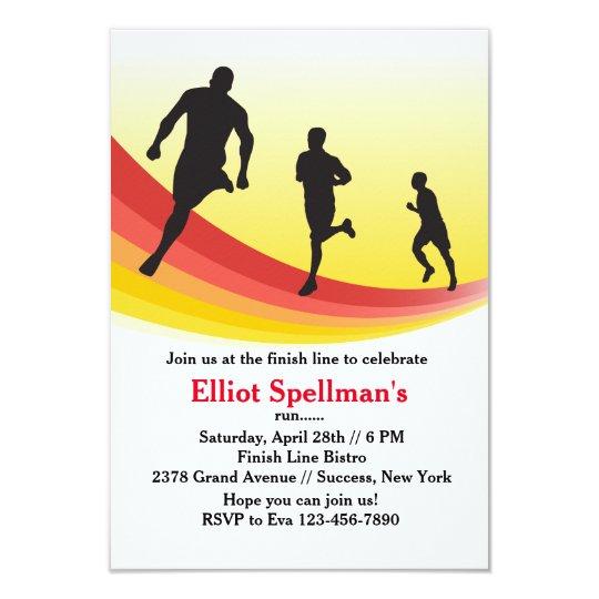 Marathon invitations announcements zazzle marathon runner party invitation stopboris Image collections