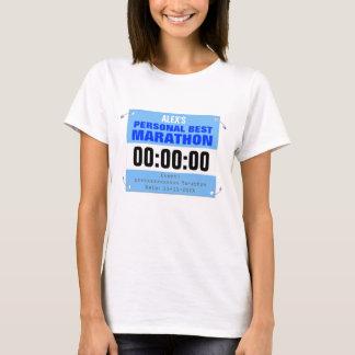 Marathon Runner Personal Best Personalized T-Shirt