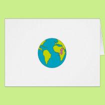 Marathon Runner Running South America Africa Drawi Card