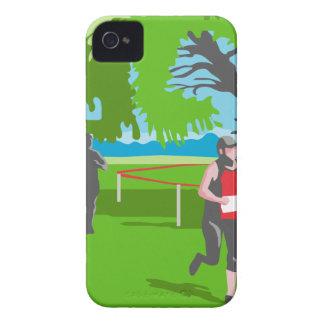 Marathon Runner Running WPA iPhone 4 Cover