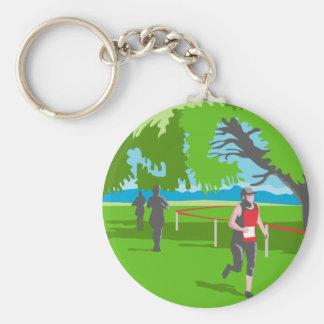 Marathon Runner Running WPA Keychain