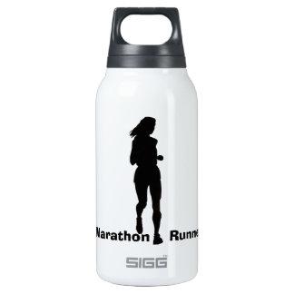 Marathon Runner Silhouette Insulated Water Bottle