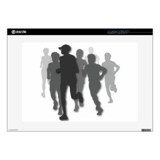 """marathon runner decals for 15"""" laptops"""