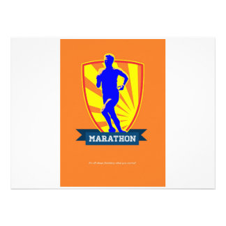 Marathon Runner Starting Run Retro Poster jpg Personalised Invitation