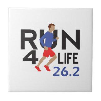 marathon runner tile