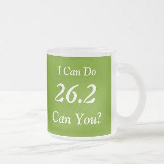 Marathon Runner's 26.2 Frosted  Mug (Green)