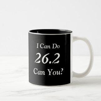 Marathon Runner's 26.2 Large Mug (Black)
