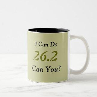 Marathon Runner's 26.2 Large Mug (Taupe)