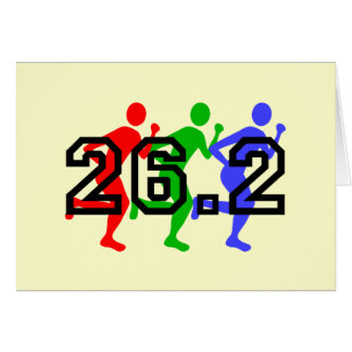 Marathon runners greeting cards