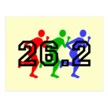 Marathon runners post cards