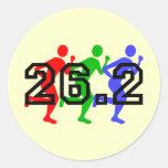 Marathon runners sticker