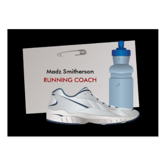 Marathon Running Coach Personal Fitness Trainer Large Business Cards (Pack Of 100)