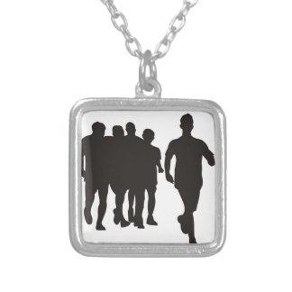 Marathon Running Silver Plated Necklace
