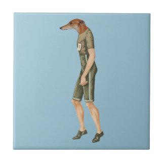 Marathon Sprinter Runner Greyhound Racing Ceramic Tile