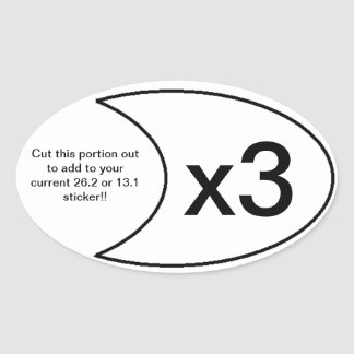 Marathon Sticker x3