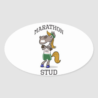 Marathon Stud Oval Sticker