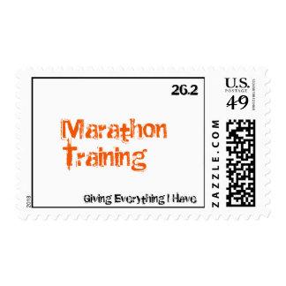 Marathon Training, 26.2, Giving Everything I Have Postage