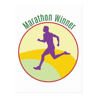 Marathon Winner Post Card