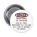 Marathoner del peligro pin