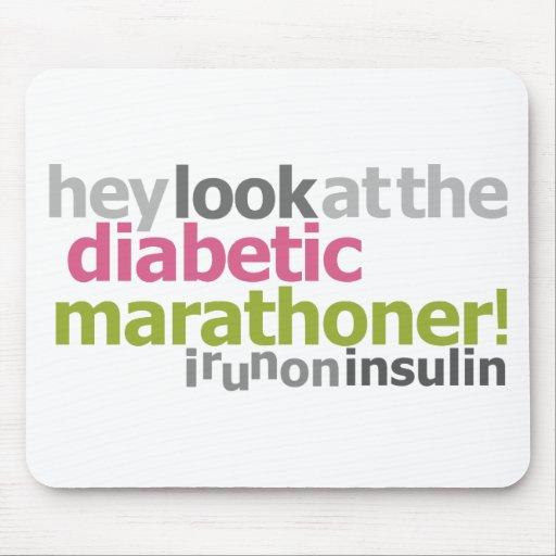 Marathoner diabético - corro en la insulina alfombrilla de ratones