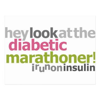 Marathoner diabético - corro en la insulina postal