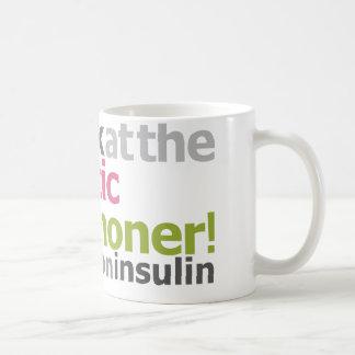 Marathoner diabético - corro en la insulina taza básica blanca