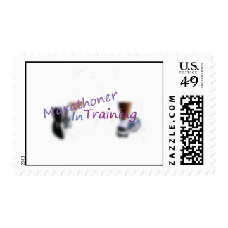 Marathoner In Training Postage Stamp