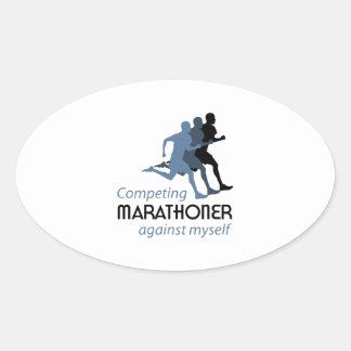 Marathoner Oval Sticker