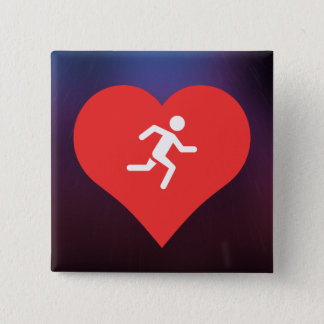Marathons Pictogram Pinback Button