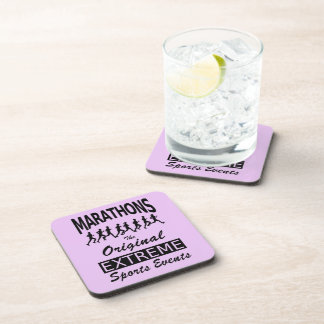 MARATHONS, the original extreme sports events Drink Coaster