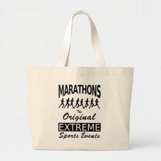 MARATHONS, the original extreme sports events Large Tote Bag